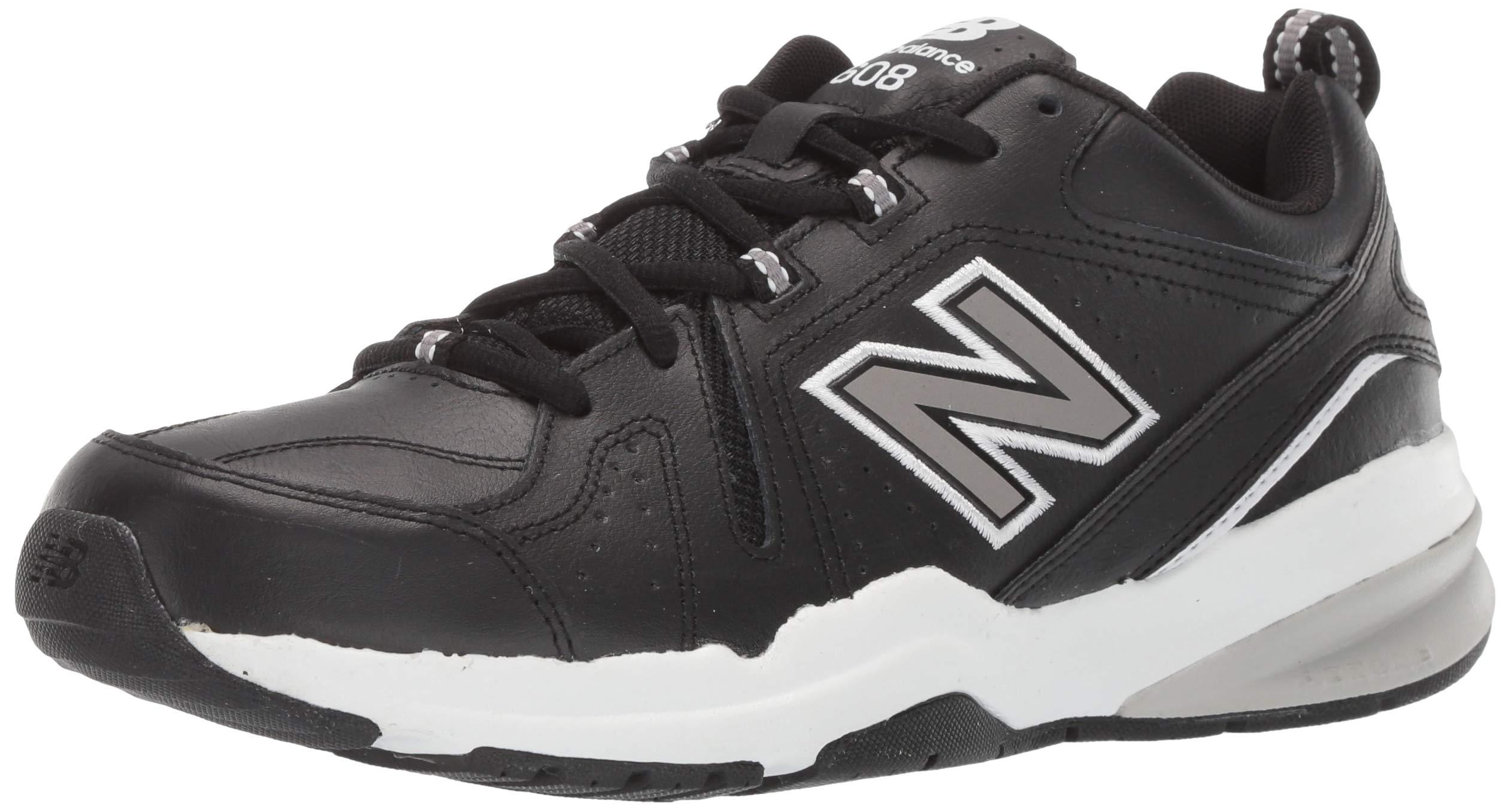 New Balance Men's 608v5 Casual Comfort Running Shoe, Black/White, 6.5 D US