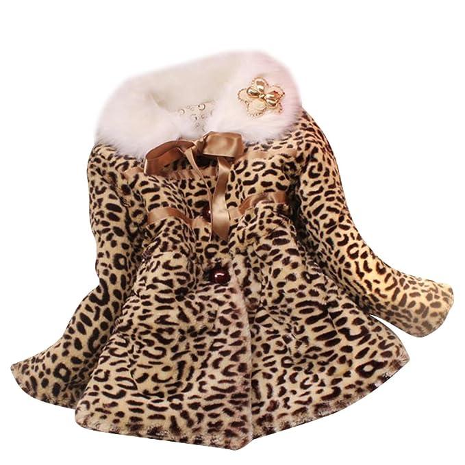 Abrigo de Niñas Leopardo Caliente Chaqueta Chica Parka 12: Amazon.es: Ropa y accesorios