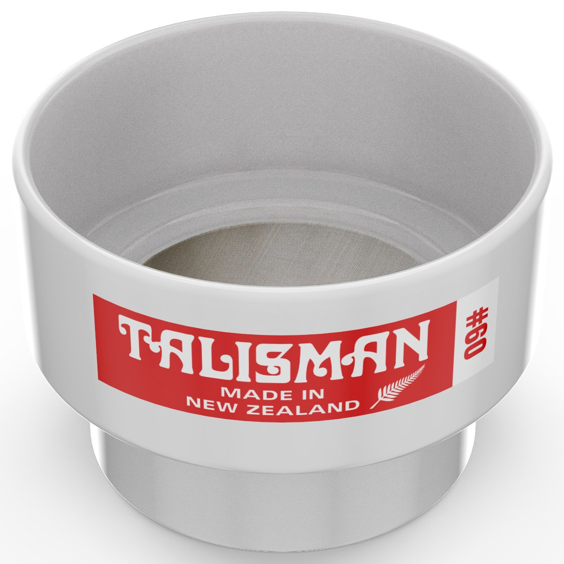 Talisman, Test Sieve, 60 Mesh, For Small Batch Slips, Glazes and Laboratory Use, 316 Steel Mesh, Polycarbonate Body by Talisman