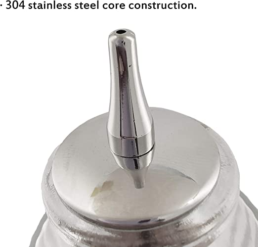 Set of 4 pcs 20mm Diameter Stainless Steel Dasher Top with Cork Base and 304 Material Bitter Bottles Pourer Stainless Steel