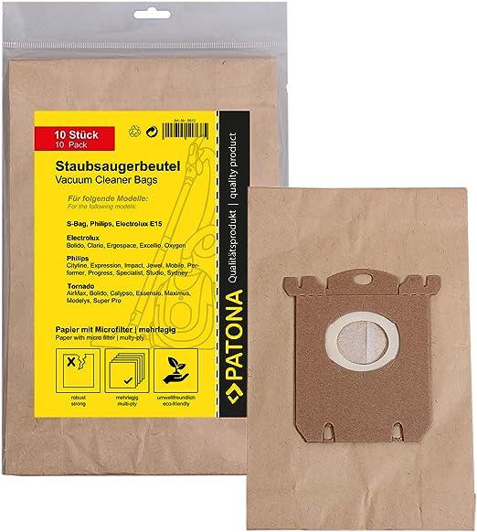 PATONA 10x Bolsas de aspiradora papel compatible con Electrolux ...