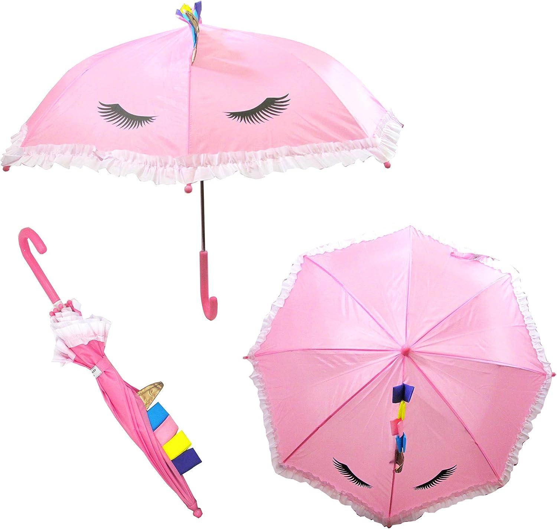 Laura Ashley Kids Clear Umbrella Pop up Lightweight Artwork Umbrella (Pink Unicorn)
