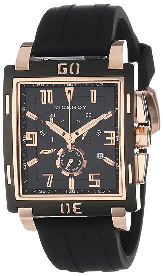 Viceroy 47719-95 - Reloj de Pulsera Hombre, Caucho, Color Negro: Amazon.es: Relojes