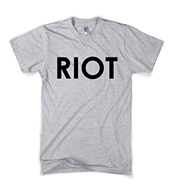 09c3eadc7ab Riot T shirt Funny Shirts for Men Political Novelty Tees Humor (Grey) XXL