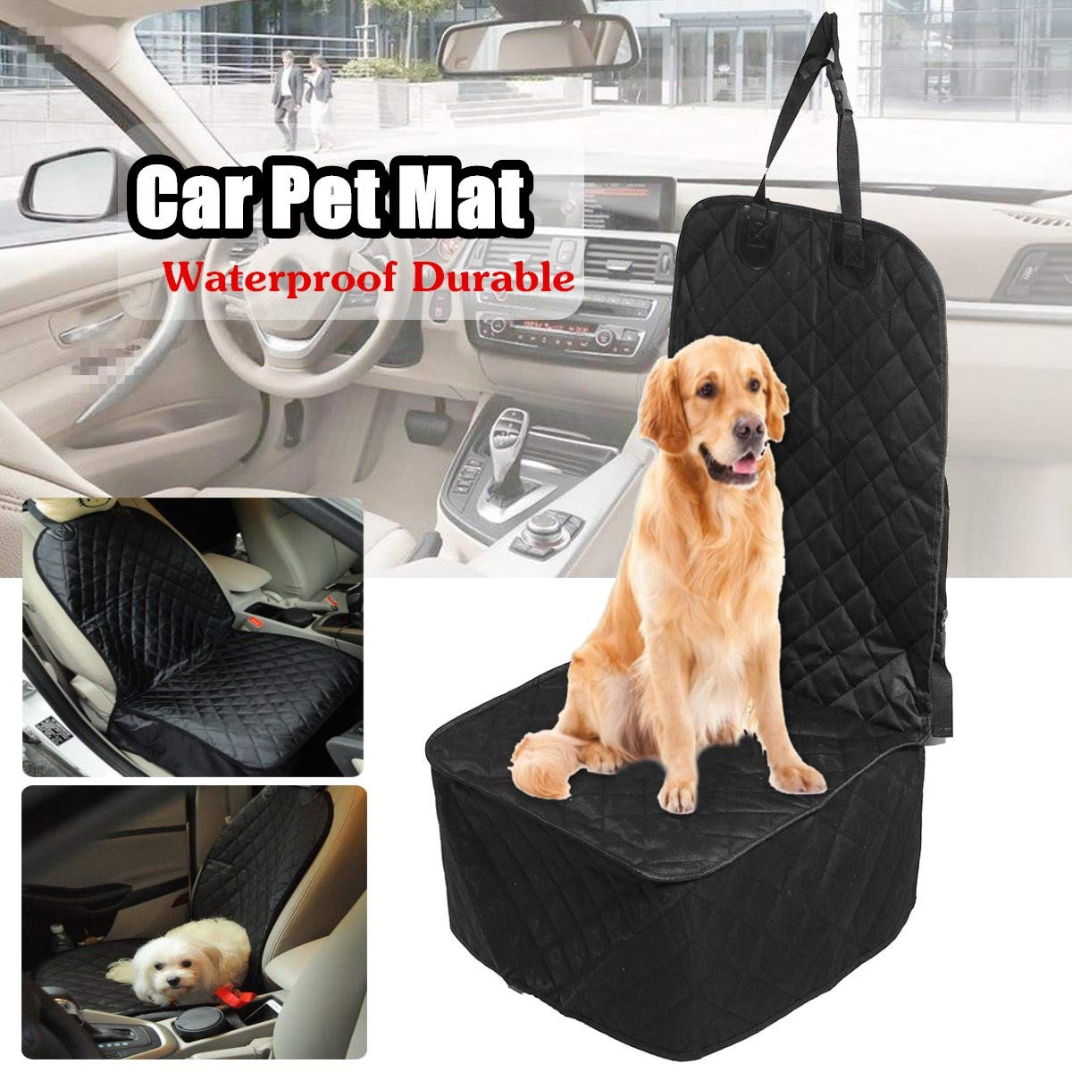 Gift-4Car Waterproof Pet Dog Car Front Seat Cover Predector Liner Seats Covers Cushion Mat