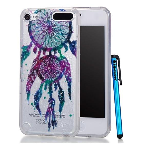 buy popular ef9ca 944ca iPhone SE Case, Qiyuxow iPhone 5S CLEAR Case Soft Bright Glitter Sparkle  Art Print Anti-Scratch TPU Bumper Case for Apple iPhone SE & iPhone 5S ...