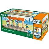 BRIO World 33874 Smart Tech Waschanlage für Züge – Waschstraße mit rollenden Walzen & Sound-Effekten – Interaktives Spielzeug empfohlen ab 3 Jahren