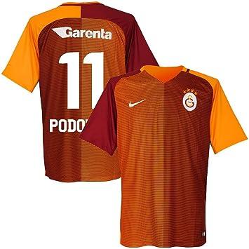 Galatasaray Home Podolski camiseta 2016/2017 (diseño de abanico printing), Anaranjado: Amazon.es: Deportes y aire libre