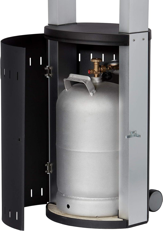 Umkippsicherung Terrassenstrahler mit Ultra Brenner-Technologie Transportr/äder Gas-Heizstrahler 5640 Enders Terrassenheizer Gas ECOLINE PURE