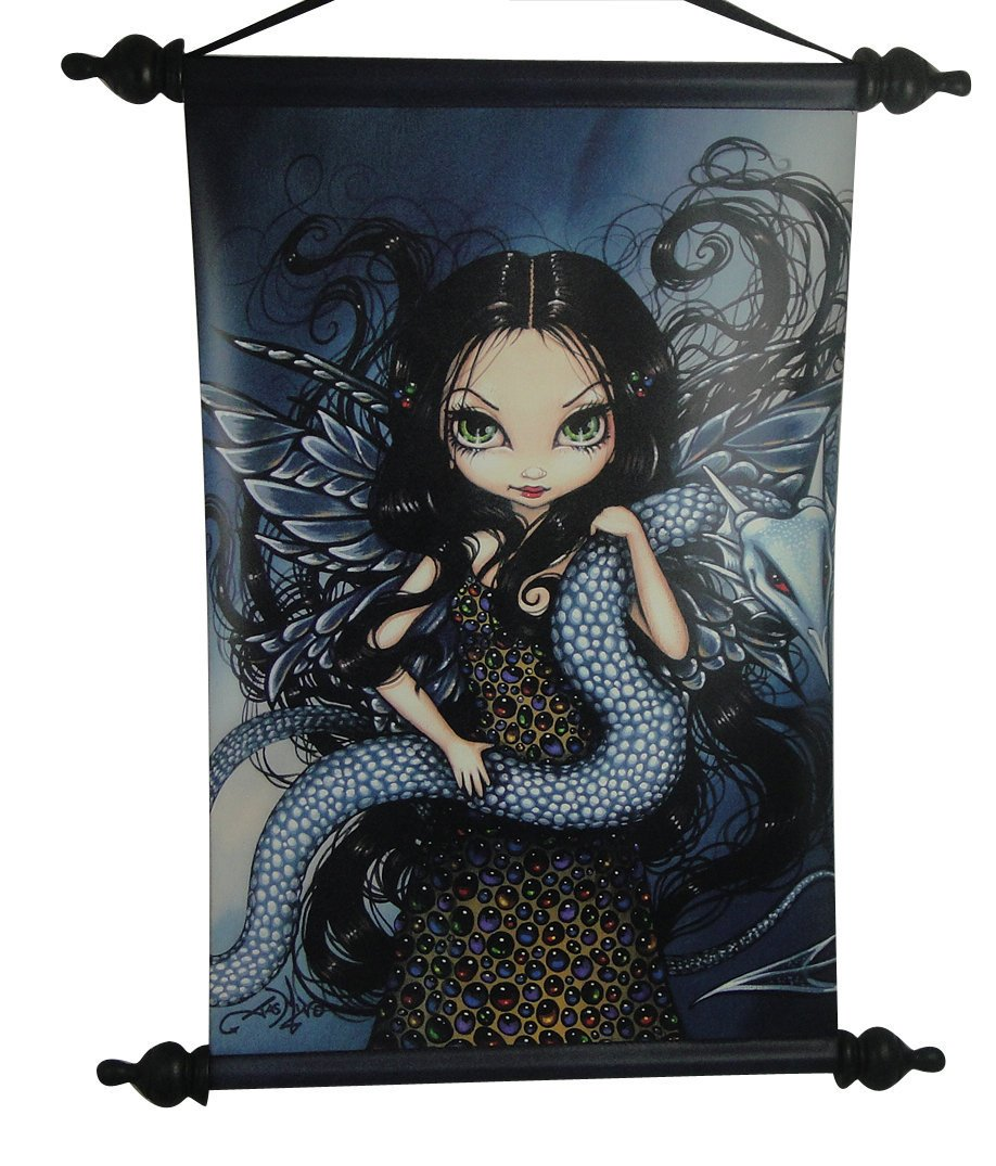 eledenimport.com 18 Inch Jeweled Fairy with Serpent Printed ...