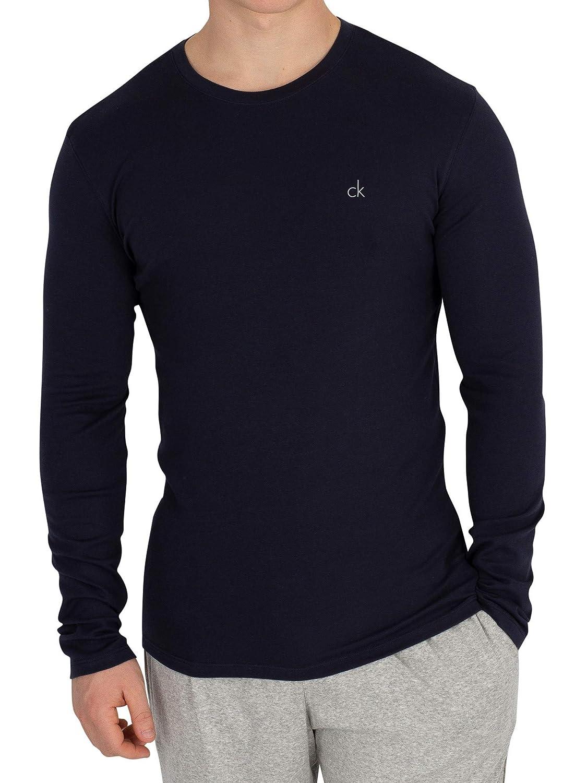 Calvin Klein Men's Longsleeved Chest Logo T-Shirt, Blue