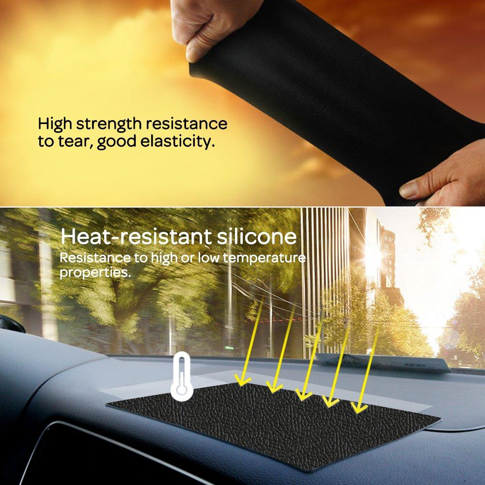 XFAY 185/×120x2mm Anti-Glisse en Silicone pour tenir Telephone,//voiture Anti Slip non collant Tapis de tableau de bord Dash// Support de portable GPS-La texture de la peau
