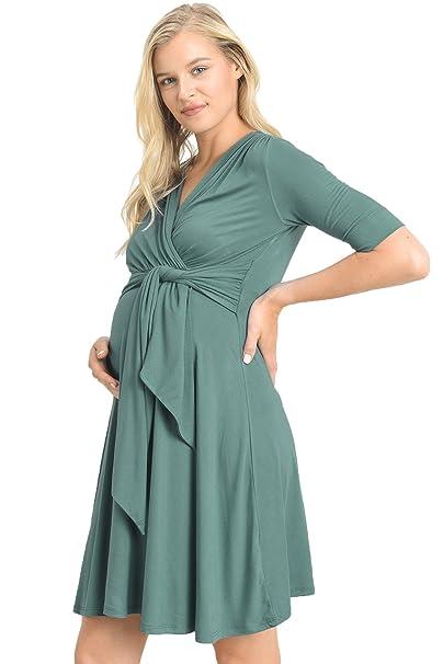 LaClef Vestido de maternidad para mujeres Grande Azul marino