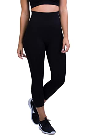 8a76e645e4199 Belly Bandit - Mother Tucker Capri Leggings for Women - Slim and Shape Your  Silhouette -