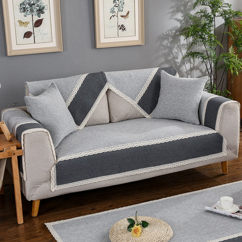 Pet couch cover,3 cushion sofa slipcover Armchair covers Sectional sofa covers Armchair slipcovers Sectional couch covers Pet couch covers for furniture-green 45x45cm(18x18inch) GDOSIGUSGH