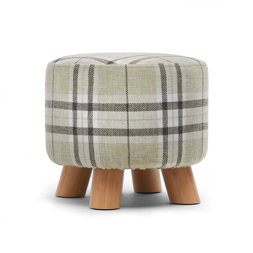 C EU90 Stool solid wood shoes stool stool fabric stool sofa stool coffee table home stool bedroom stool - small stool (color   C)