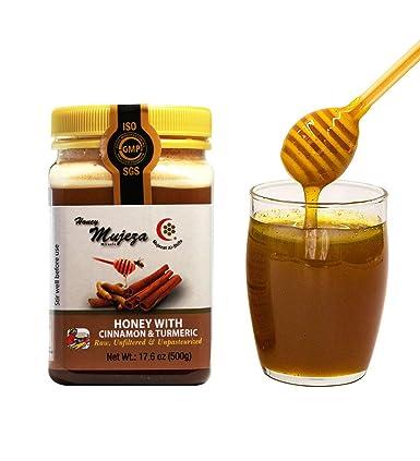 Mujeza miel cruda 100% pura miel con canela – Natural y pura ...