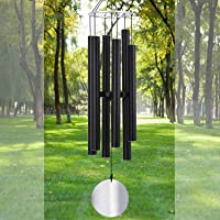 Large Wind Chime Outdoor Deep Tone45 Inch Sympathy Winchimes Outdoor Unique with 6 Tubes Tuned Low ToneAmazing Grace…