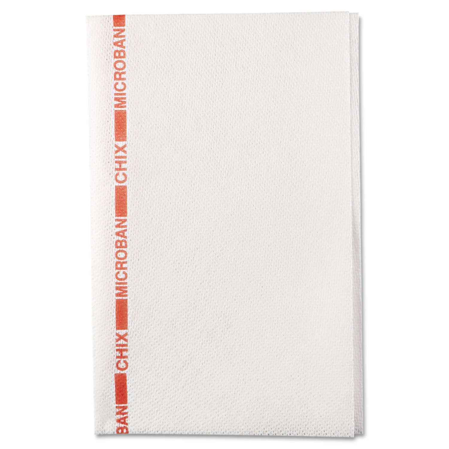 Chix 8252 Food Service Towels, 13 x 21, Cotton, White/Red, 150/Carton by Chicopee (Image #3)