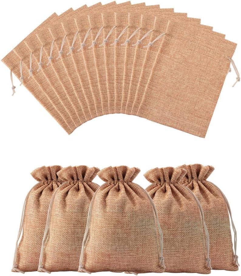 NBEADS Bolsa con Cordón, Bolsas de Regalo de Tela de 100 Unidades para la Fiesta de Bodas Embalaje de Regalos Festival de Navidad Fabricación de Regalos, Perú, 18x13 cm