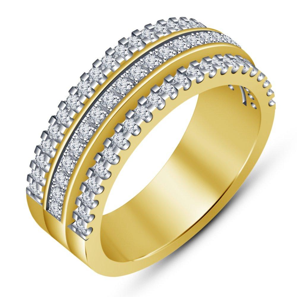 62 (19.7) Vorra Fashion-Ring, Ring für Damen, mit 18 Karat verGoldet, solide, 925 Sterling-Silber