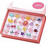 PinkSheep Little Girl Jewel Rings in Box,...