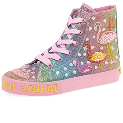 2b3f27f03b Lelli Kelly Shining Flamingo Rainbow Lace-Up Boot 8.5/26 Std Unless Stated  in