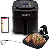 NuWave Brio 6-Quart Healthy Digital Air Fryer with One-Touch Digital Controls, Integrated Digital Temperature Probe…