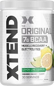 Scivation Xtend BCAA Powder, Lemon Lime, 30 Servings