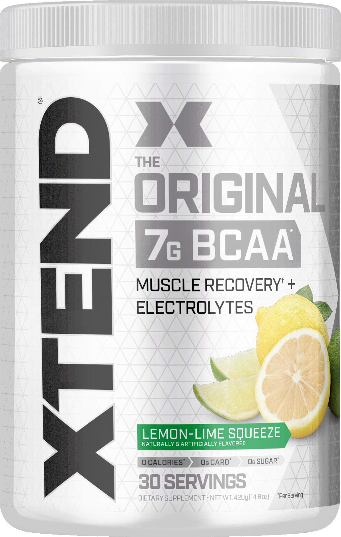 Scivation Xtend BCAA Powder, Branched Chain Amino Acids, BCAAs, Lemon Lime, 30
