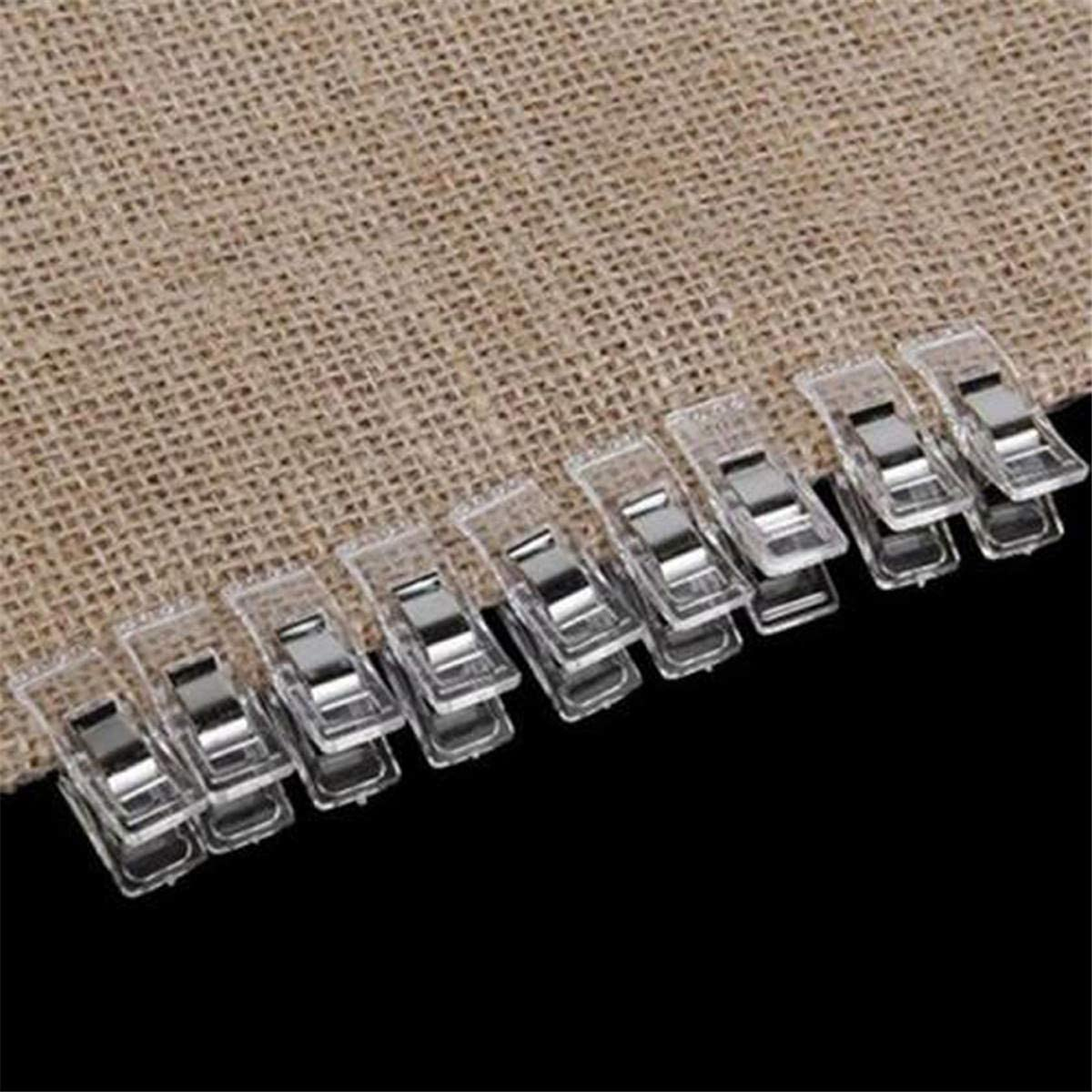 Craft Clips Quilting Clips Crochet CH01 50Pcs Multipurpose White Sewing Clips Wonder Clips for Sewing Clips Knitting
