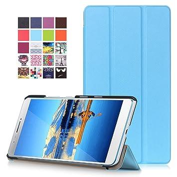 Lenovo Tab3 7 Plus Funda - Carcasa Ultra Delgado y Ligero con Cubierta de Soporte para Lenovo Tab3 7 Plus 7,0 Pulgadas Tablet, Azul Claro (NO para ...