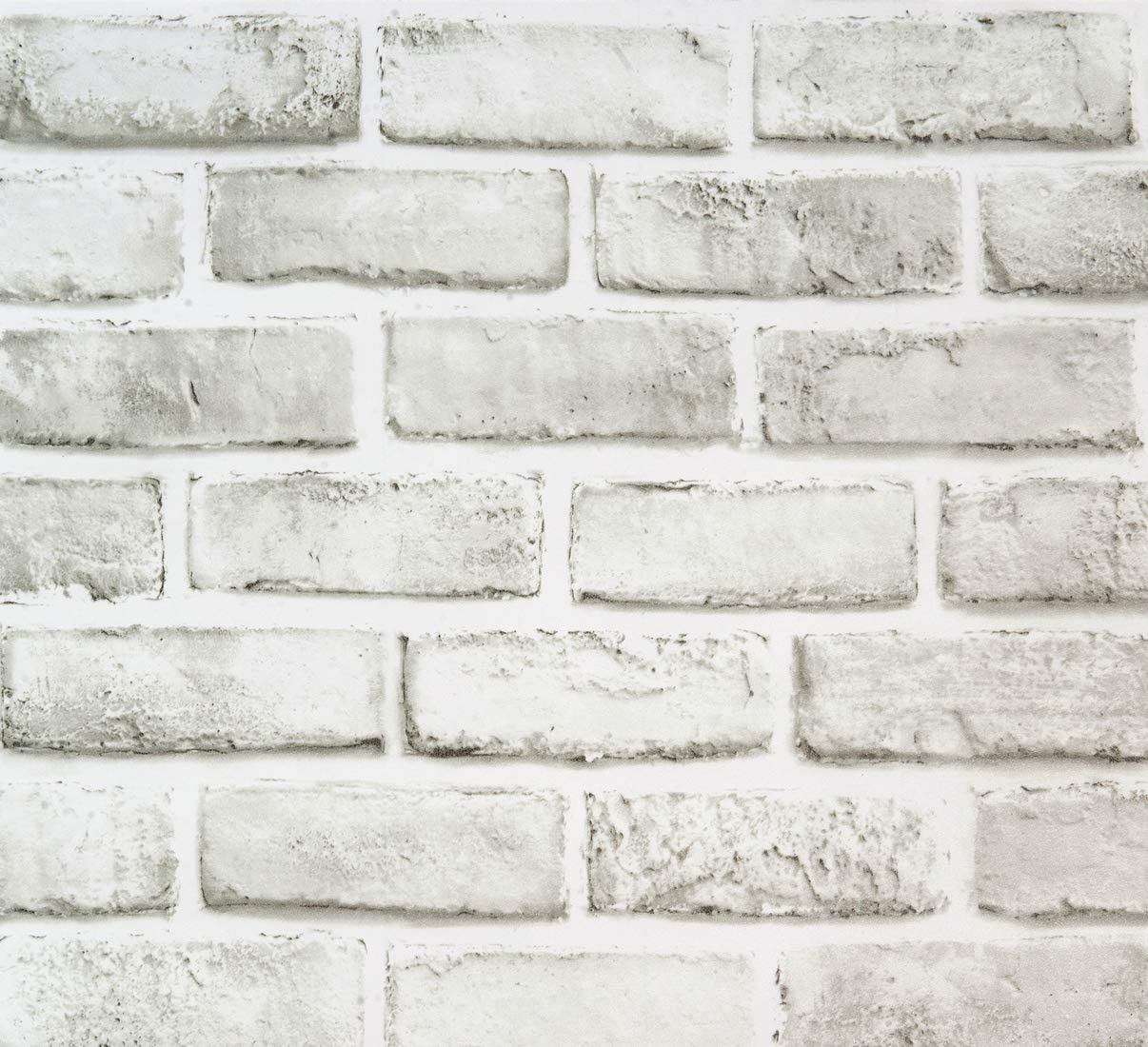 White Brick Peel And Stick Wallpaper Removable Wallpaper Cleanable Wall Paper Shelf Paper Self Adhesive Grey White Brick Vinyl Pattern Bathroom Backsplash 17 7 In X 393 7 In Fireplace Decoration Home Kitchen
