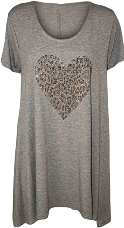 Clothing Trader Camiseta - Animal Print - Manga Corta - 100 DEN - para Mujer: Amazon.es: Ropa y accesorios