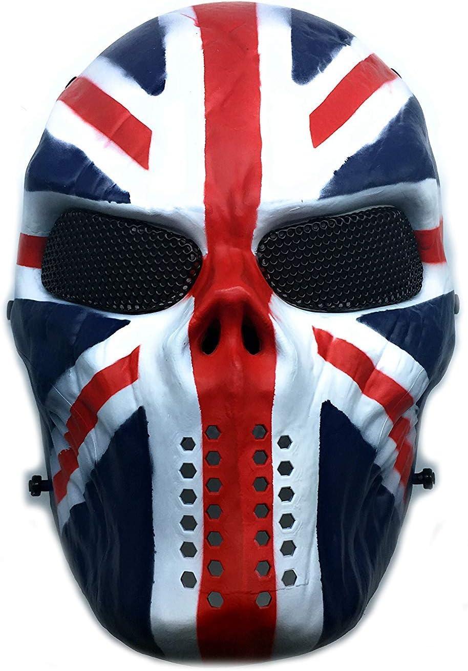 CS mascarilla de protección Halloween Airsoft Paintball Full Face Skull Máscara de esqueleto