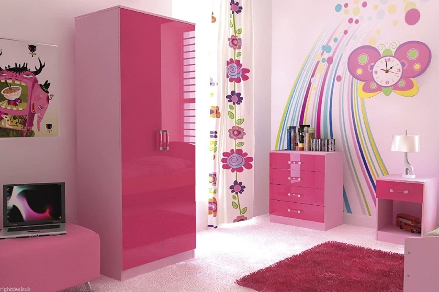 childrens pink bedroom furniture. ottawa 2 tone high gloss bedroom 3 piece furniture set pink: amazon.co.uk: kitchen \u0026 home childrens pink