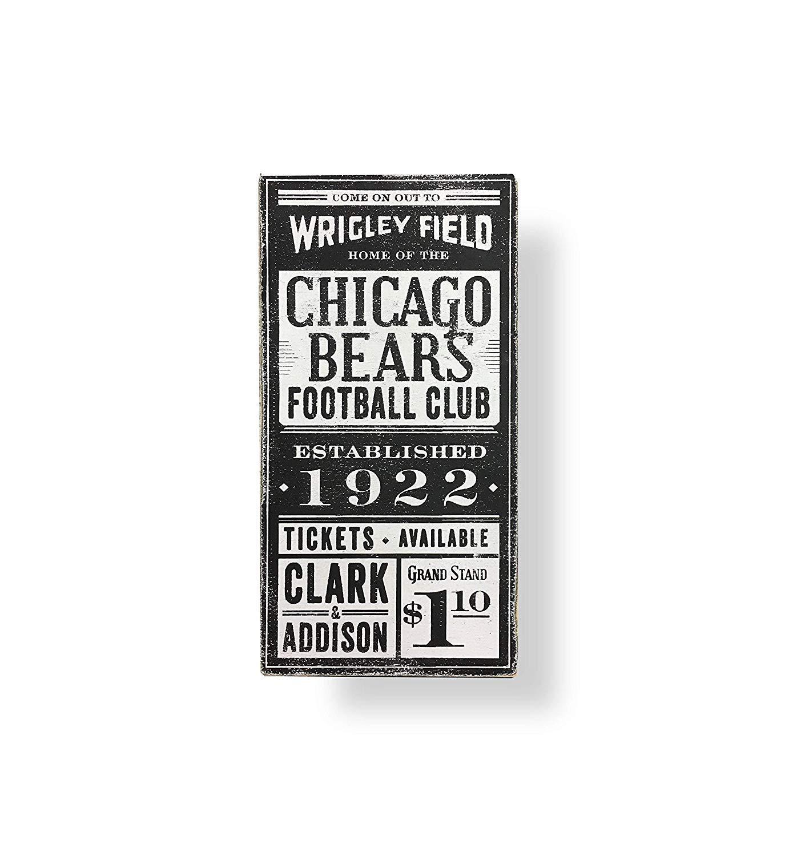 Cartel de Chicago Bears con Texto en inglés Chicago Man Cave ...