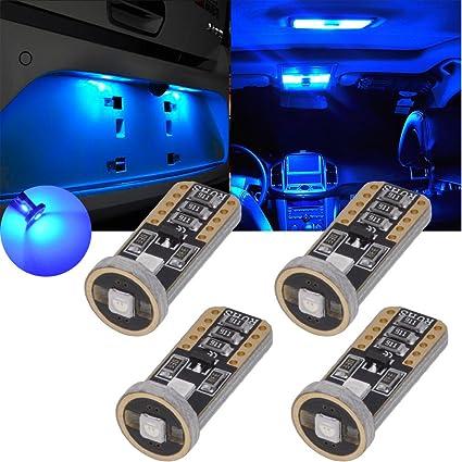 TUINCYN T10 194 168 LED Bulb Blue CANBUS Error Free 175 2825 W5W Wedge Light Bulb