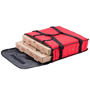 "Nylon Insulated Pizza Delivery Bag Size 18"" x 18"" x 5"""
