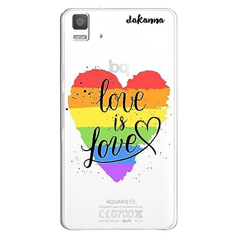 dakanna Funda BQ E5 4G - E5S | LGBT Corazón Frase Just Love ...