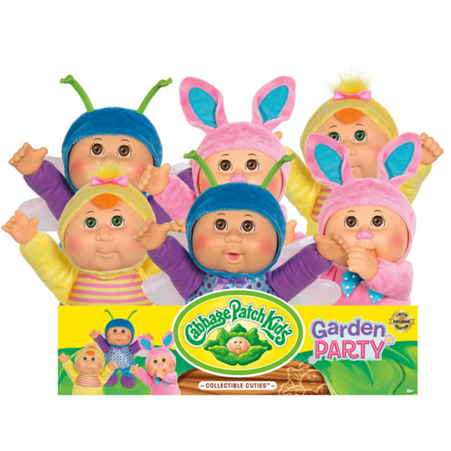 Cabbage Patch Kids Cuties Ava Bunny 9 Inch Soft Body Baby Doll Garden Party Collection