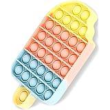 Fidget Pop it Game, Brinquedo de brinquedo Popper Fidget Push Pop Bubble Sensory Toy, Brinquedos de Silicone de Alívio de Ans