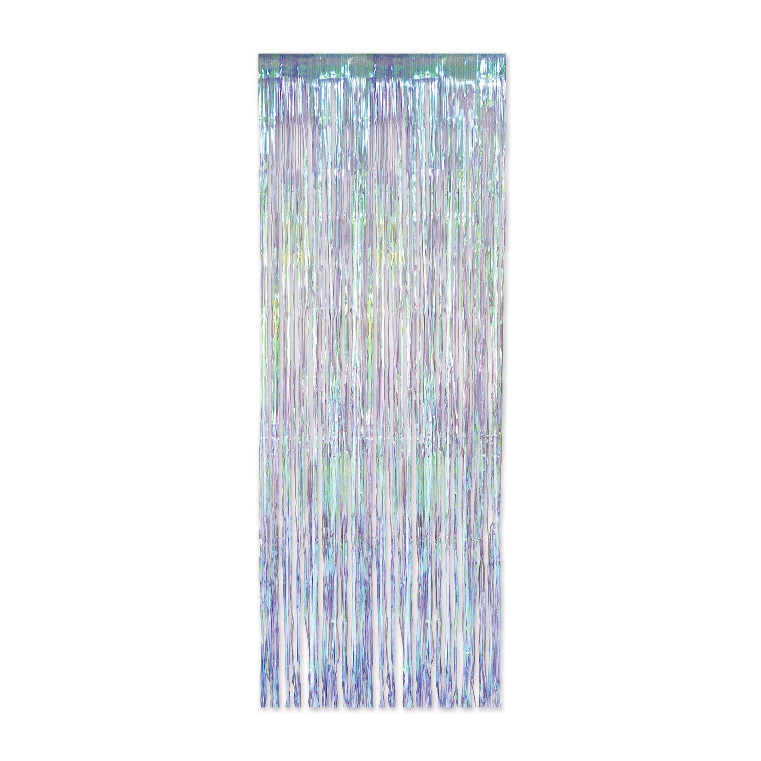 Beistle Iridescent Party Supplies, 1 Ply Iridescent Fringe Curtain 3 Feet x 8 Feet, Pack of 6