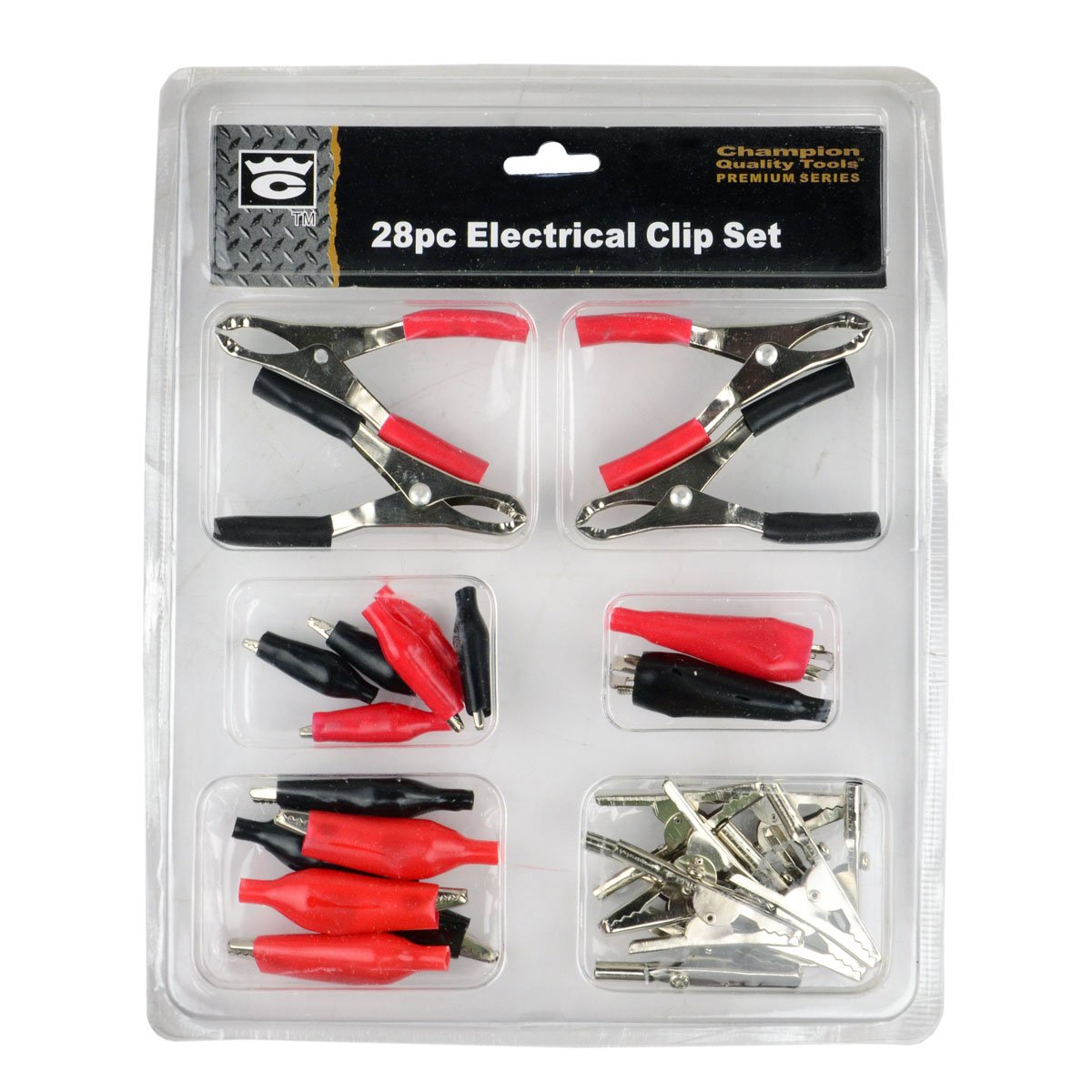 Amazon.com: 28 Pc Alligator Clip Set Assorted Electrical Clamps Test ...