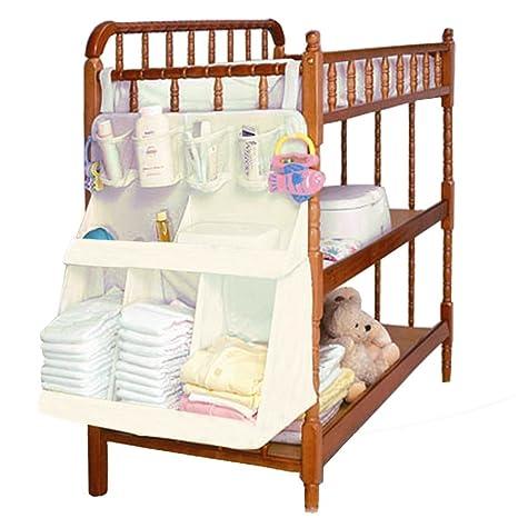 Pochette de almacenamiento organizadores con bolsillos para cama funda/bolsa/cesta de almacenaje en
