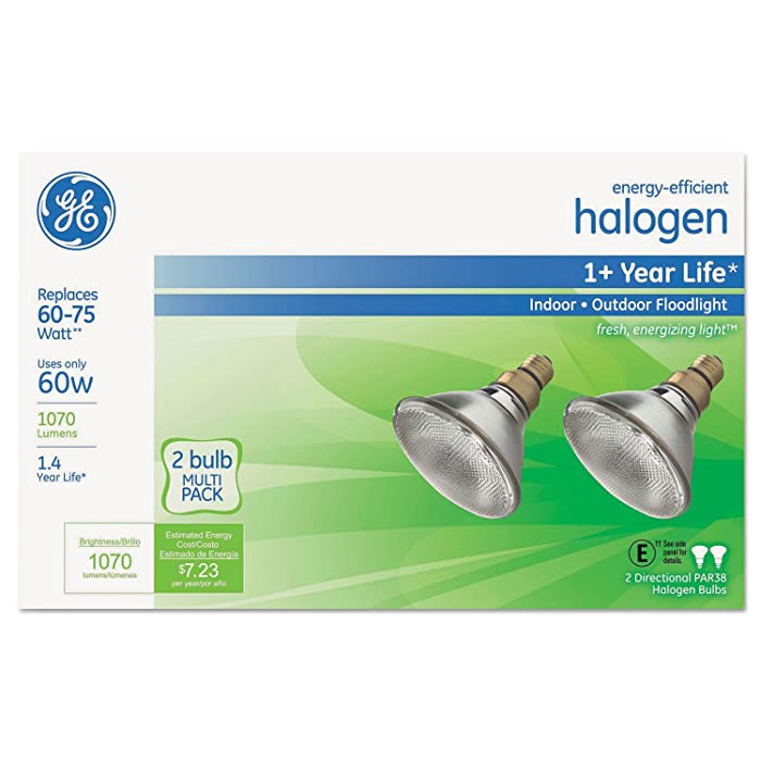 GEL66280 - Energy-Efficient Halogen 60 Watt PAR38 Floodlight