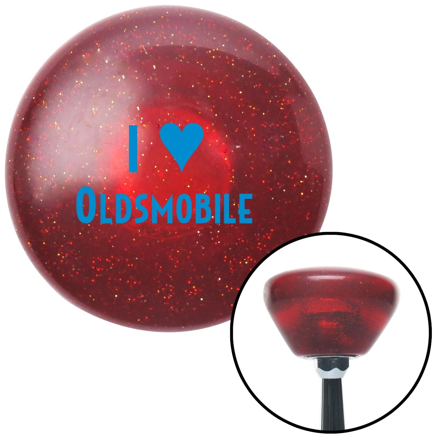 Blue I 3 Oldsmobile American Shifter 194746 Red Retro Metal Flake Shift Knob with M16 x 1.5 Insert