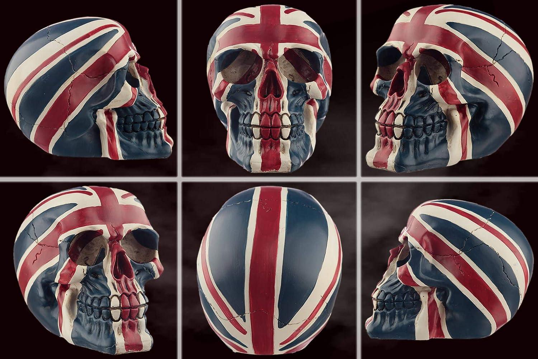 Hauteur 10.5 cm mtb more energy Figure cr/âne Hard Brexit D/écoration t/ête de Mort Union Jack Drapeau UK GB Royaume-Uni Grande Bretagne Angleterre