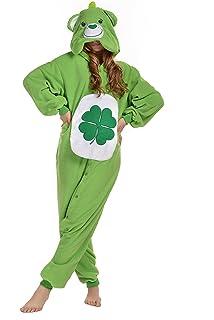NEWCOSPLAY Polar Fleece Unisex Green Bear Pajamas