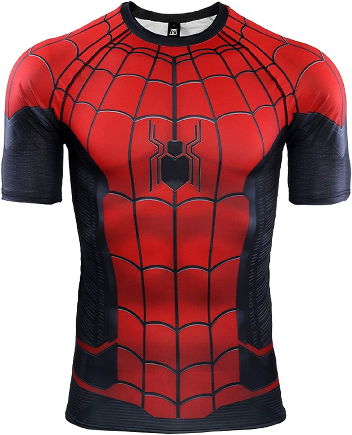 Spider-Man Far from Home Short Sleeve Men's Compression Shirt 3D Print T-Shirt